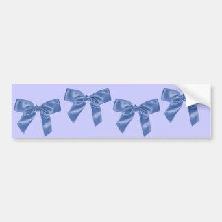 blue bow ribbons car bumper sticker