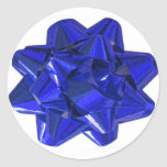 Blue Bow Stickers