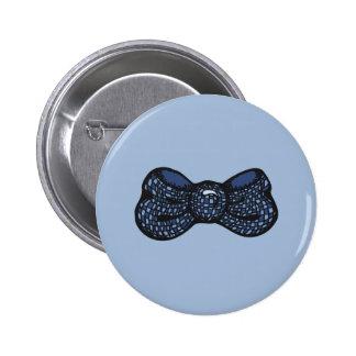Blue Bow Tie 2 Inch Round Button