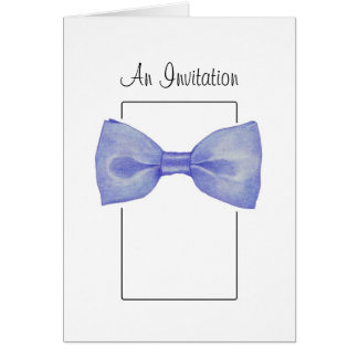 Blue Bow Tie Invitation Card