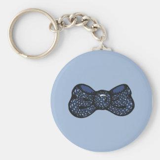 Blue Bow Tie Keychain