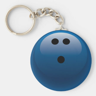 BLUE BOWLING BALL KEYCHAIN