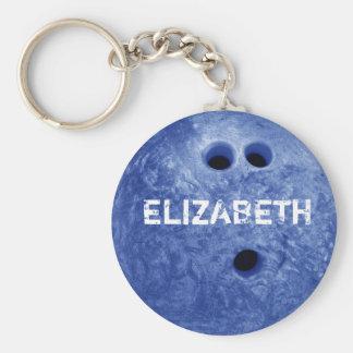 Blue Bowling Custom Ball Keychain