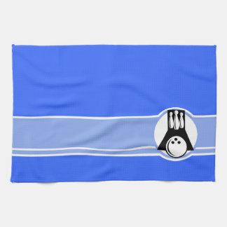 Blue Bowling Hand Towel