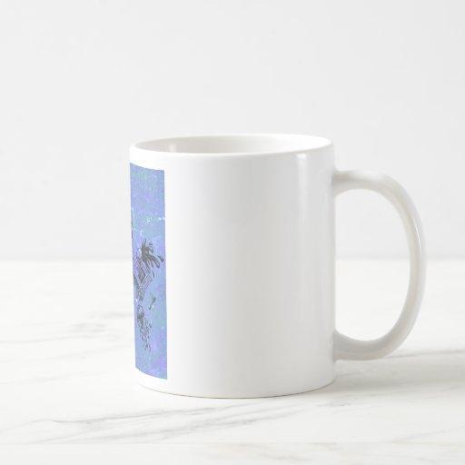 blue bowling kitty coffee mug