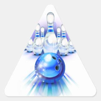 Blue bowling triangle sticker