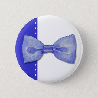 Blue Bowtie Button