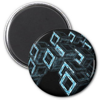 Blue Boxes 2 Inch Round Magnet