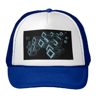 Blue Boxes Trucker Hat