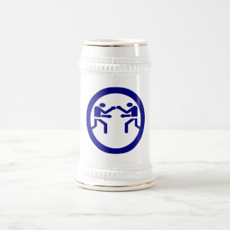 BLUE BOXING BEER STEIN