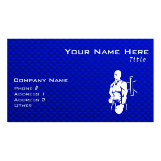 Blue Boxing Double-Sided Standard Business Cards (Pack Of 100)