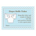Blue Boy Baby Shower Diaper Raffle Ticket Insert Business Cards