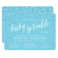 Blue Boy Baby Sprinkle Invitations