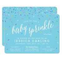 Blue Boy Baby Sprinkle Invitations