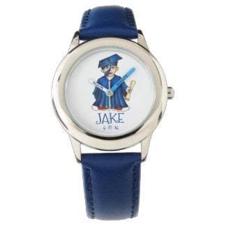 Blue Boy Graduate Child Personalized Graduation Watch