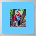 BLUE BOY IN TREE POSTER