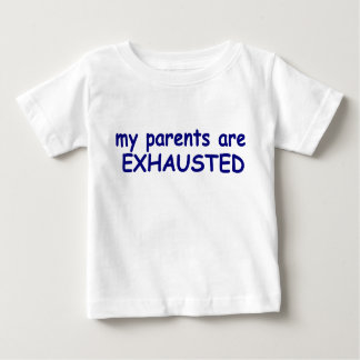 Blue Boy Parents are Exhausted Baby T-Shirt