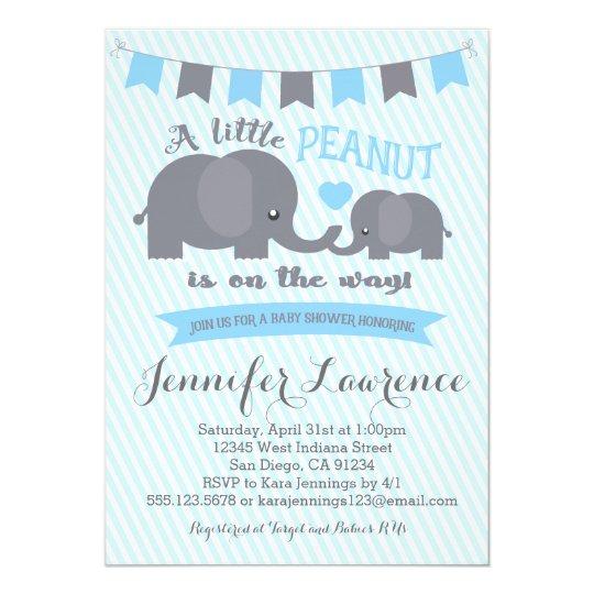 Baby blue elephant shower