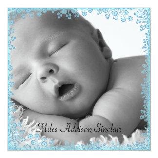 Blue Boy Photo Birth Announcement