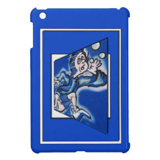 blue boy runnin' (vert frame) iPad mini covers