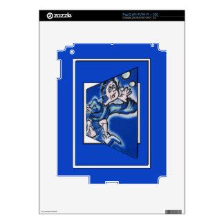blue boy runnin' (vert frame) skins for the iPad 2