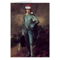 Blue Boy Santa Greeting Card