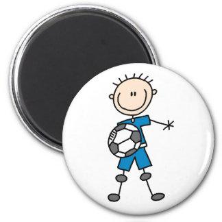 Blue Boy Soccer Player Magnet