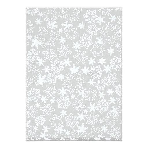 Blue Boy Winter Snowflake Baby shower Invitation