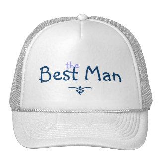 Blue Braid Best Man Hat
