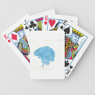 Blue Brain Bicycle Playing Cards