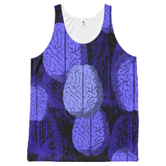 Blue Brains! All-Over Printed Unisex Tank