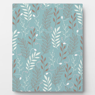 Blue Branches and Leaves Background Plaque