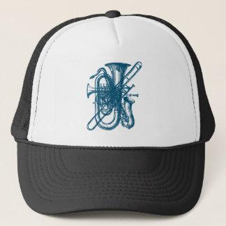 Blue Brass & Sax Trucker Hat