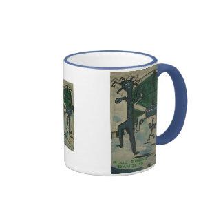 blue break dancers coffee mug