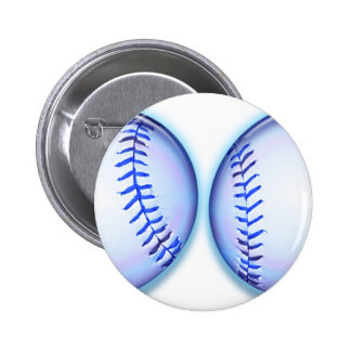Blue Breast Baseballs Buttons