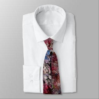 Blue Brick and Blossoms Regular Tie