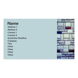 Blue Brick Double-Sided Standard Business Cards (Pack Of 100)