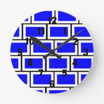 Blue Brick Clock