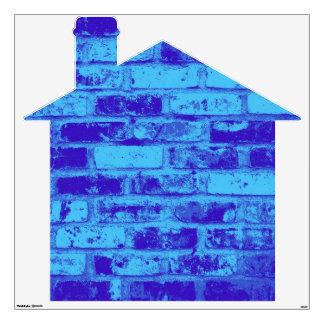 Blue Brick House Wall Sticker