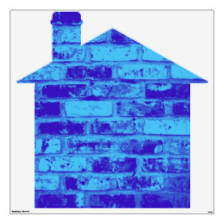 Blue Brick House Wall Stickers