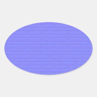 Blue Brick Oval Sticker