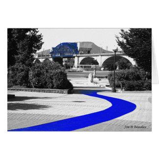 Blue Brick Path Card