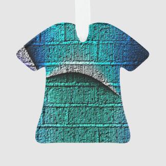 Blue brick pattern