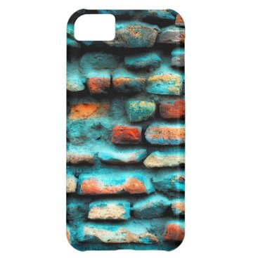 Blue Brick wall Case For iPhone 5C