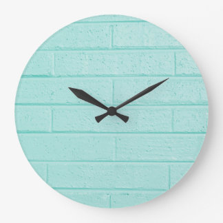 Blue Brick Wall Clock