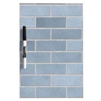 Blue Brick Wall Dry-Erase Board
