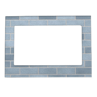 Blue Brick Wall Magnetic Photo Frame