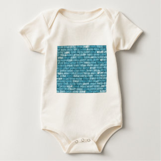Blue Brick Wall Baby Bodysuit