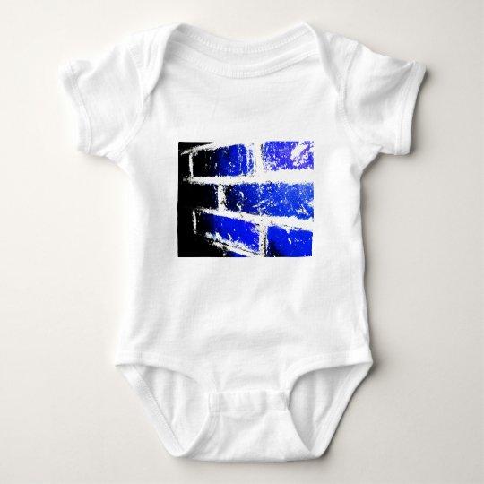 Blue Bricks Baby Bodysuit