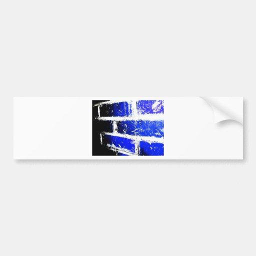Blue Bricks Car Bumper Sticker